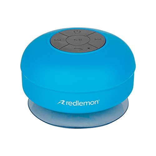 Redlemon Bocina Bluetooth para Regadera Resistente al Agua IPX4, con Manos Libres y Batería Recargable de Larga Duración, Ventosa Adherible a Superficies Lisas, Control de Reproducción y Llamadas