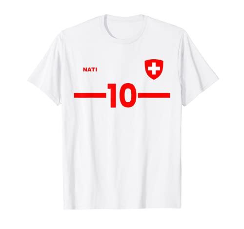 Suiza Equipo Nacional de Fútbol Retro Jersey Nati Camiseta