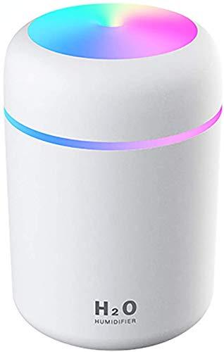 Difusor de aceite esencial de aroma ultrasónico de 300 ml - Difusor de aromaterapia USB portátil con luz nocturna colorida, apagado automático, para el hogar, dormitorio, oficina, automóvil, v