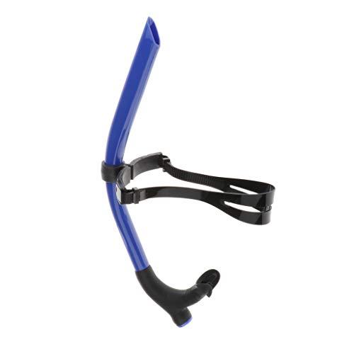CUTICATE Tubo de respiración de Natación Frontal Equipo de Snorkel de Silicona cómodo Accesorio de Snorkel (Negro Azul)