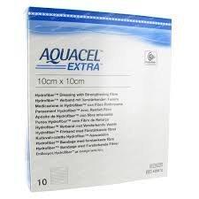Aquacel EXTRA dressings 10cm x 10cm (x10) by ConvaTec
