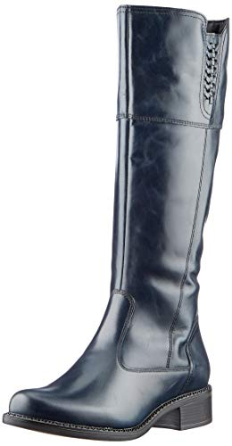 Tamaris Damen 1-1-25565-25 Kniehohe Stiefel, blau, 39 EU