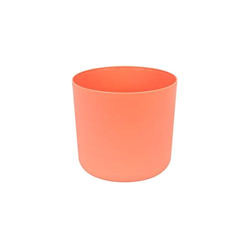 Classique cache-pot en plastique Aruba 13 cm en orange couleur