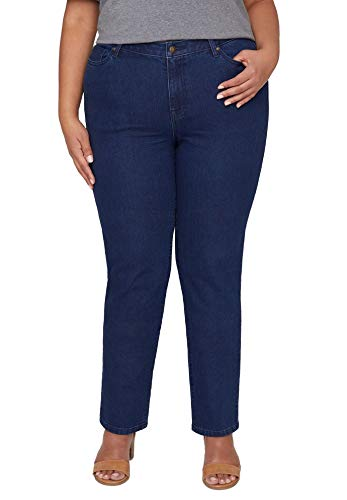 Catherines Women's Plus Size Universal Jean - 28 W, Bourbon Wash Blue (1798)
