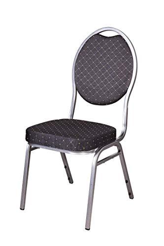16x Set Stapelstuhl schwarz Bankettstuhl Stapelstühle Bankettstühle Konferenzstühle Seminarstühle Konferenzstuhl Stuhl Konferentzstühle Besucherstühle Wartezimmerstühle
