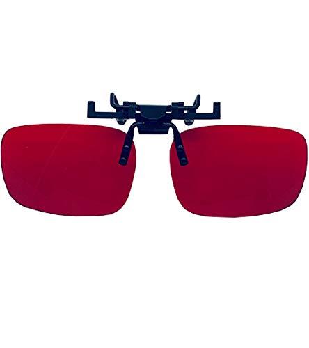 YHYABC Clip para Gafas para Daltónicos - Rojo Verde Gafas de Corrección de La Debilidad - Debilidad Media / Severa Rojo Verde Gafas Se Pliegan Fácilmente