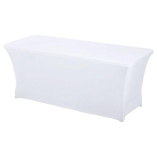 HAORUI Spandex Lycra Elástica 180×76×76cm Cubierta de Mesa Paño de Rectangular Adecuado a la Mesa de Banquetes...