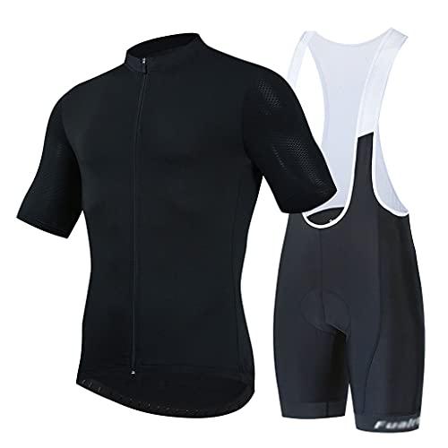 ZAYZ Hombres Culotte con Tirantes de Maillot de Ciclismo con Juego Acolchado 3D, para Ciclismo, Jogging, Senderismo, Running, Entrenamiento (Color : Style 2, Size : M)