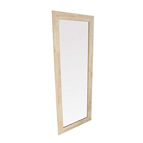 Adec - Natural, Espejo Rectangular, Espejo de Pared, Marco de Madera de Roble Salvaje, Medidas: 160 cm (Alto) x 60 cm (Ancho) x 2 cm (Fondo)