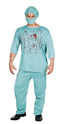 Boland – Déguisement Adulte Chirurgien Horror Bloody Surgeon Mens, Vert, Taille M/L, 79077