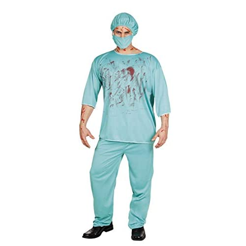 Boland- Costume Adulto Chirurgo Horror Bloody Surgeon, Verde, Taglia M/L, 79077