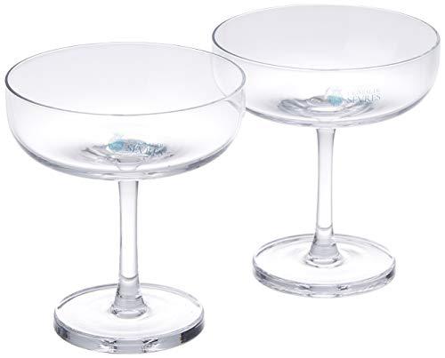 Cristal de Sèvres Horizon Set de Copas de Champagne, Cristal, 11x11x12 cm, 2