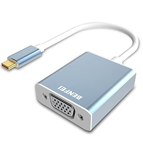 Adaptador USB C a VGA, BENFEI USB-C (Thunderbolt 3) a VGA Macho a Hembra Convertidor