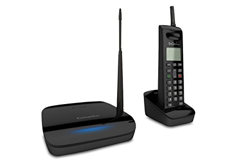 EnGenius FreeStyl 2, Long range, Expandable up to (9) Handsets, 900 MHz, Scalable Cordless Phone with 2-way Radio for Broadcast or Intercom, Coverage up to 100,000 sq ft
