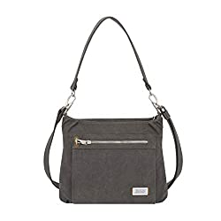 professional Travelon Anti-theft Heritage Hobo Bag, Pewter, One Size