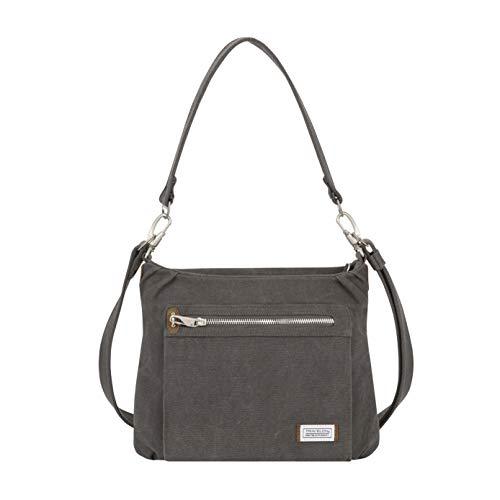 Travelon Anti-Theft Heritage Hobo Bag, Pewter, 11.5 X 9.5 X 3
