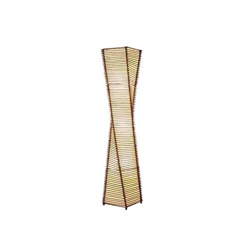 Lámpara de pie creativa Lámpara de pie japonesa Zen del sudeste asiático de pie Lámparas for la sala de madera maciza de bambú del hotel Inn Luminaria LED Lámpara de la linterna Lámpara de Suelo de pe