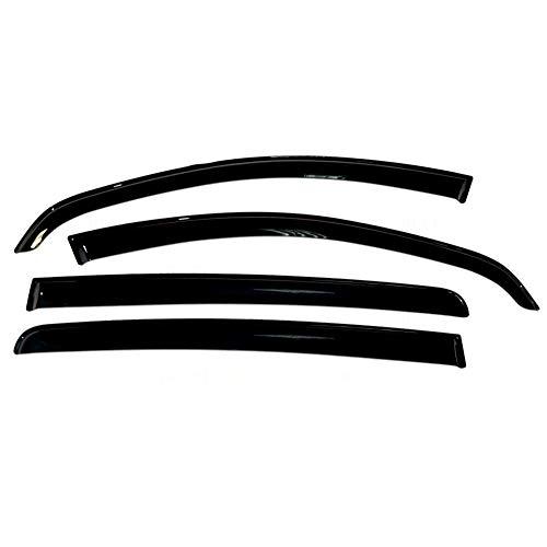 YUNJINGCHENMAN Para Renault Sandero 2007-2014 Deflectores de Ventanas de Coche Deflector de Viento de Coche Protector de Sol de Lluvia de Ventilación Cubierta de Coche Accesorios de Estilo