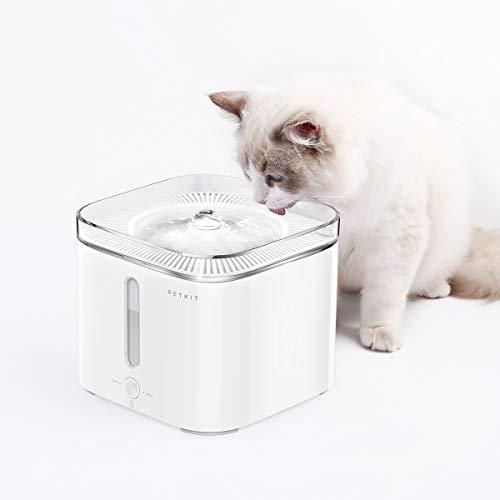 PETKIT 2.0 Dispensador Automático de Agua Inteligente para Perros y Gatos-Anti Burn out/Super Quiet/Alarma de Escasez de Agua/Alarma de Cambio de Filtro