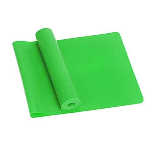 Dpatleten Yoga Equipment Training Elastic Resistance Band Yoga Rubber Loops Pilates Band Green