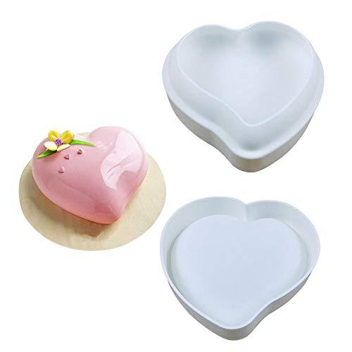 BGREN 3 pièces Art gâteau Moule Pan 3D Grille Bloc Nuages Diamant Coeur Silicone Moule Mousse Silikonowe Chocolat Moule cuisson2-UNE