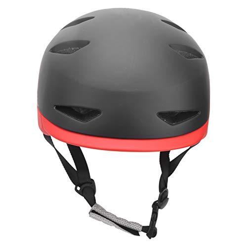 Liyeehao Casco de Bicicleta, Casco de Scooter ampliamente Utilizado Casco de Ciclismo Casco de monopatín Molde de una Pieza para Scooter para Ciclismo para Patinaje sobre Ruedas(Black Red, L)