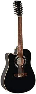 12 String Acoustic-Electric Guitar Black Left Handed