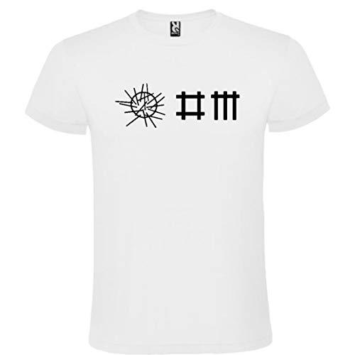 ROLY Camiseta Blanca con Logotipo de Depeche Mode Hombre 100% Algodón Tallas S M L XL XXL Mangas Cortas (XL)