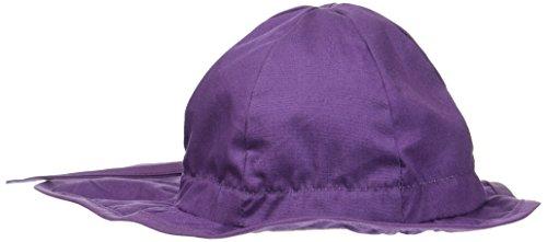 Melton Baby-Mädchen Sonnenhut mit Nackenschutz UV 30+, Uni Kappe, Violett (Mauve 732), 45