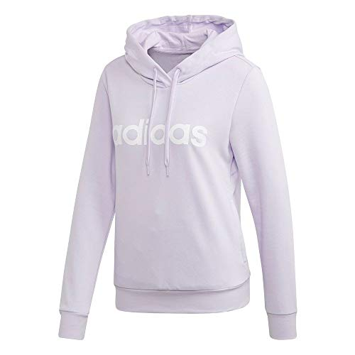 adidas Performance Essentials Linear Kapuzenpullover Damen Flieder/weiß, M