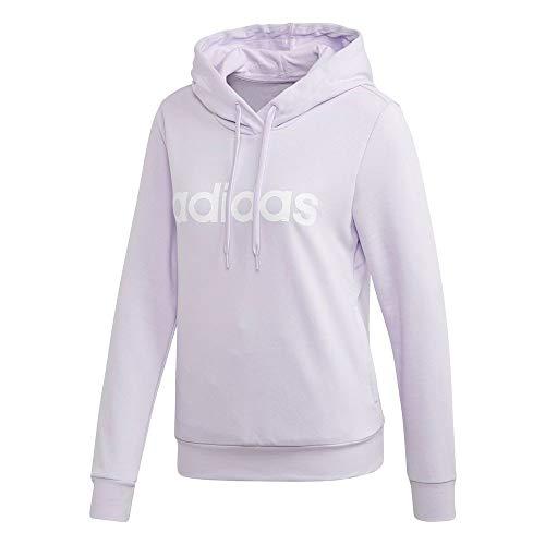 adidas W E Lin Oh Hd Sweatshirt für Damen M matpur/Weiss