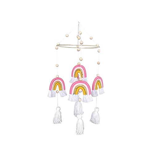 YeongShe Rainbow Wall Hanging Hand Woven for Kids Room,Home Decoration Pendant Creative Ornaments Rainbow Wall Pendant