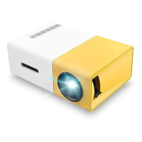 N\C ZSCC Proyectores de Video, Proyector portátil de Video LED con proyección para niños presentes, Video TV Movie, Juego de Fiesta, Entretenimiento al Aire Libre con interfaces HDMI USB AV y Control