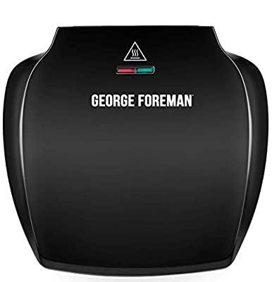 George Foreman Family 5-Portion(510 sq cm plate) Grill 23420 - Black from George Foreman