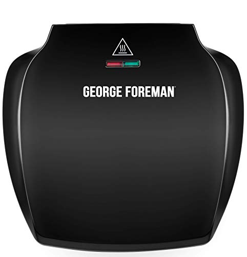 George Foreman Family 5-Portion(510 sq cm plate) Grill 23420 - Black