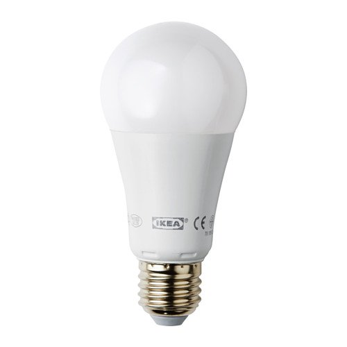 IKEA ledare - Bombilla LED E27, regulable, globo blanco opal - 1000 lm