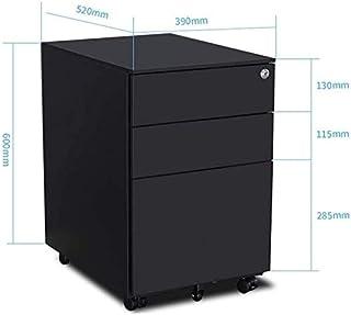 Classeurs XMJ Made in Lock Universel Roue de prévention des incendies avec 3 tiroirs Box Bureau Creative Armoire de Rangem...