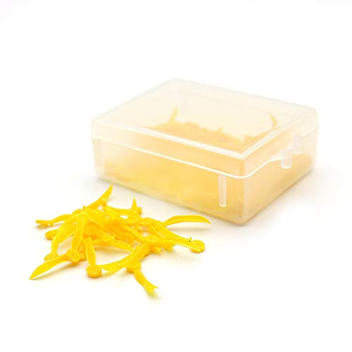 100 Pcs Disposable Plastic Dental Wedges YOUYA DENTAL Perforated Dental Wedges Colored Dental Orthodontic Materials Dental Tools for Interdental Embrasure Tooth Restoration-M (Yellow)