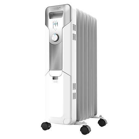 Cecotec Radiador de Aceite Ready Warm 5600 Space. 7 Módulos, Bajo Consumo, Termostato Regulable, 3 Niveles de Potencia, Sistema Antivuelco, Fácil Transporte, 1500 W