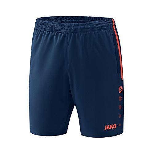 JAKO Competition 2.0 Shorts de randonnée, Navy/Flamme, 38-40 Femme