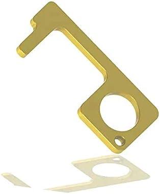Melek pro Brass Material EDC Door Opener-Contactless Safety Door Opener,Keep Hands Clean(Pack of 2)