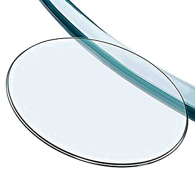 L-KCBTY Glass Table Top, Tempered Glass Table Top,Tempered Flat Edge Polish,Plate Glass -Clear,Furniture Replacement Parts,Thickness: 9mm, Ø 16in 18in 20in 21in 23in 27in 28in 30in 32in