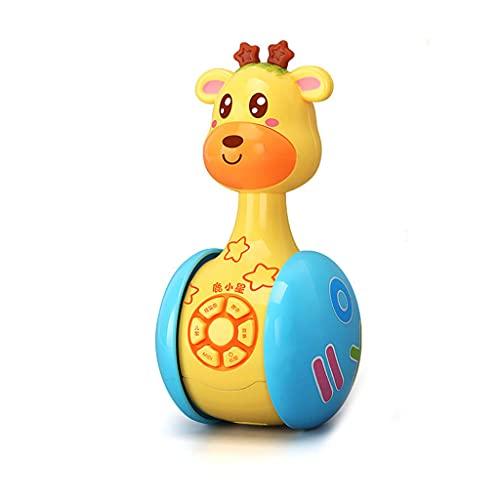 AniYY 1 vaso deslizante multifuncional rompecabezas sonajero juguete con canciones de la infancia y luces deslumbrantes para niños pequeños educación