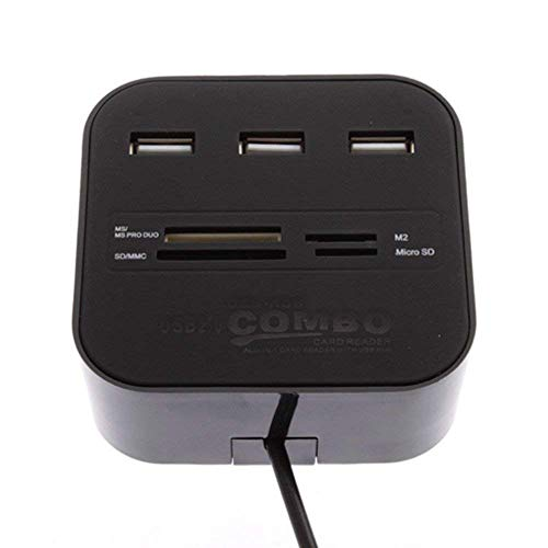 Storite All in One USB Hub Combo 3 USB Ports and All in one Card Reader,USB 2.0,for Pen Driver/Cameras/Mobiles/PC/Laptop/Notebook/Tablet,Docking Station,MS/MS pro Duo/SD/MMC/M2/Micro SD Support