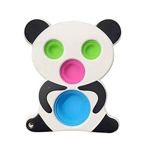 Congci Juguetes de práctica de educación temprana Juguetes sensoriales para bebés Tablero Giratorio de Silicona Liberación de estrés Juguete para apretar de Silicona en Desarrollo Intelectual