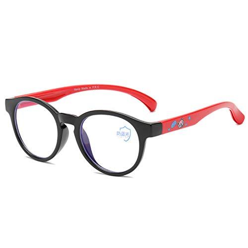 Anti-Straling Bril, Platte Spiegel Voor Kinderen, Anti-Bijziendheid Bril Voor Baby, Computer Leesbril Met Blauwe Lenzen Voor Kinderen 3-15 Jaar, Rood
