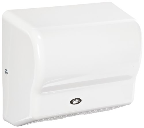 American Dryer Global GX1 ABS Cover Automatic Hand Dryer, 110-120V, 1,500W Power, 50/60Hz, White