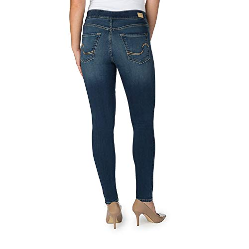 Signature by Levi Strauss & Co Women's Totally Shaping Pull On Skinny Jeans, Harmony, 10 Short