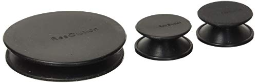ResOlution Caps Universal Caps for Cleaning, Storage, and Odor Proofing Glass Water Pipes/Rigs and More - Black