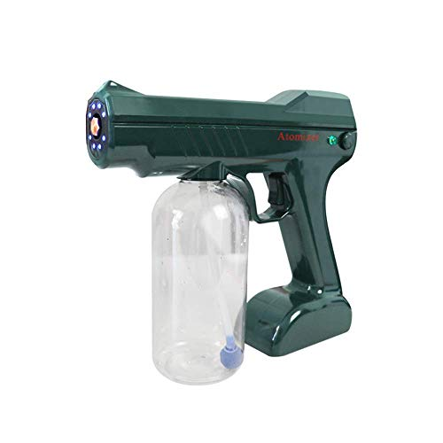 AMDIMOHB Pistola de pulverización antivirus Atomized Alcohol Anti-Virus 800ml Máquina de niebla eléctrica portátil, pulverizador desinfectante de mano Luz azul Nano Steam Spray Pistola para el coche d